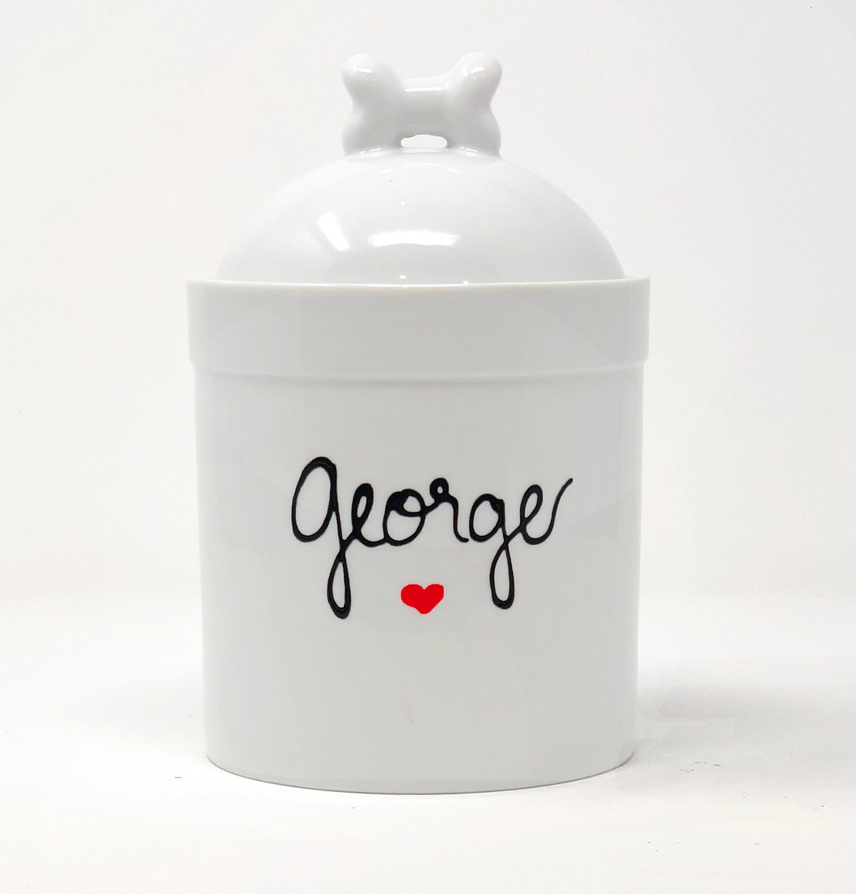 Large Size Personalized Dog Treat Jar, Personalized with Name, Airtight Pet Treat Jar with Silicone Seal