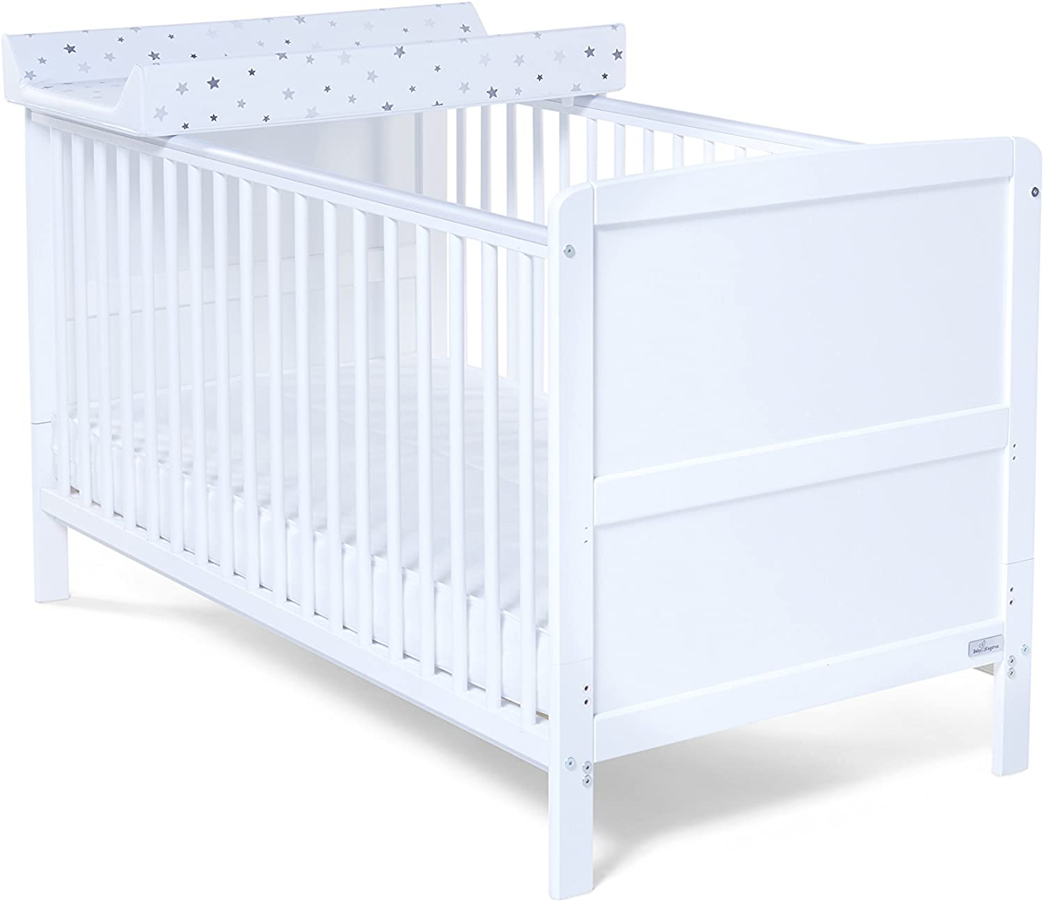Wooden white Baby Cot Bed 140 x 70 cm ✔ Converts to Junior Bed Real Bargain