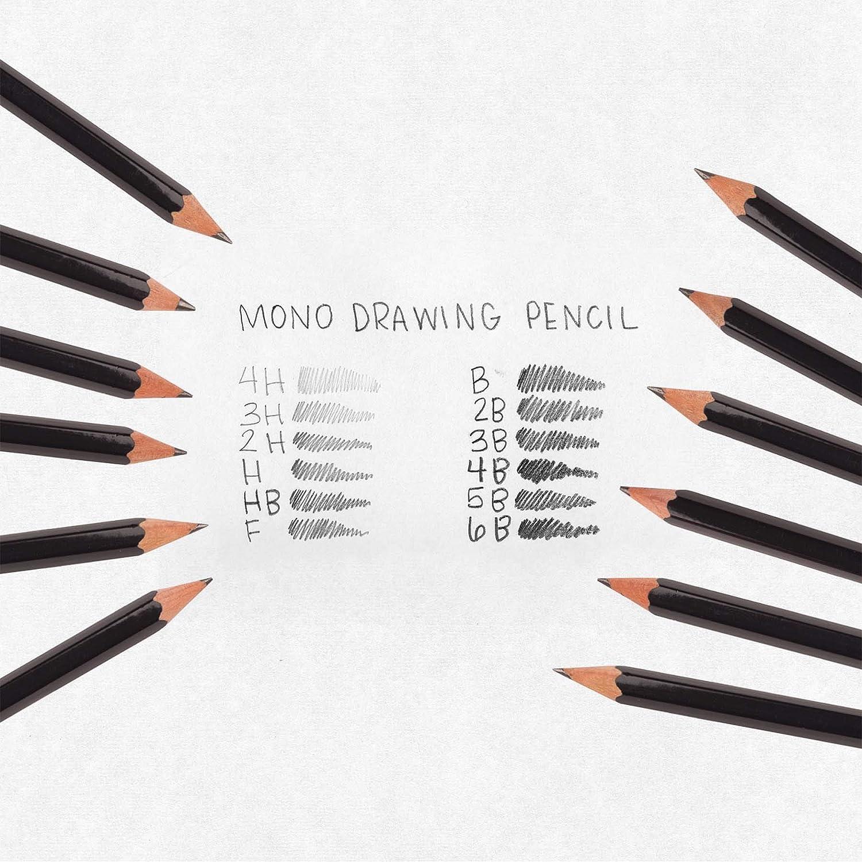 Set of 12 Tombow Mono 100 Graphite Pencil Japanese Pencil Japanese Stationery F