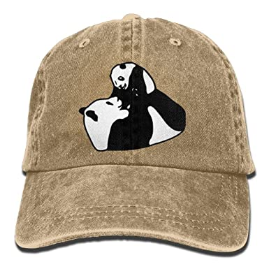724525b0 Image Unavailable. Image not available for. Color: JXSED Pandas Father and Son  Unisex Adjustable Cowboy Baseball Caps Dad Hat ...