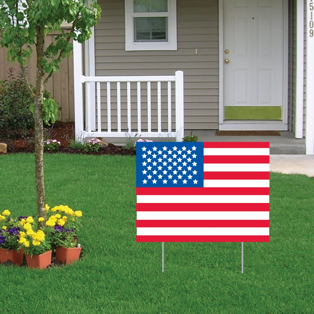 indiana flag american town small in stock displayed photo garden georgetown cottage