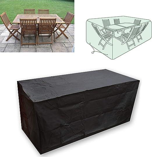 CDGroup Funda para Muebles de Jardín Impermeable Funda para Mesa para Mobiliario de Exterior Mesa Funda para Mesa de Jardín Impermeable Funda para Muebles de Patio al Aire Libre 213x132x74CM: Amazon.es: Hogar