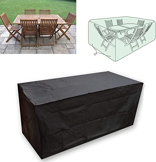 CDGroup Funda para Muebles de Jardín Impermeable Funda para Mesa ...