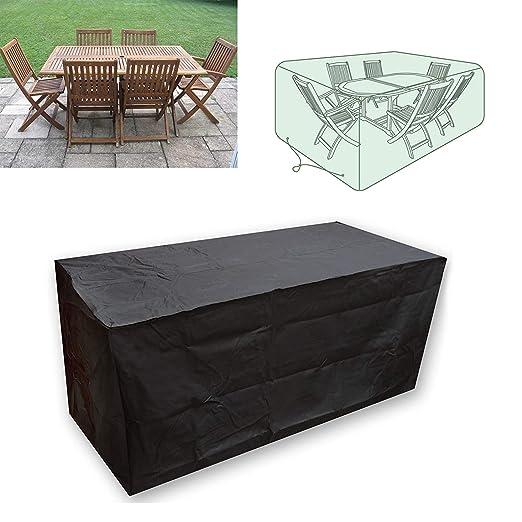KaufPirat Premium Funda para Muebles de Jard/ín150x90x75 cm Cubierta Impermeable Funda para Mesa para Mobiliario de Exterior Beige