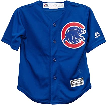 save off 7c125 f4257 Majestic Chicago Cubs Alternate Blue Cool Base Toddler Jersey