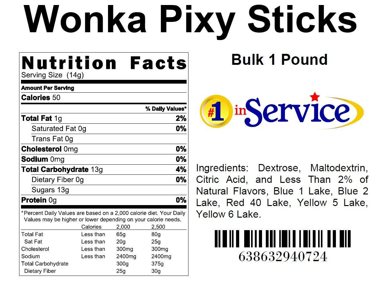 pixy stix nutrition facts nutrition ftempo. Black Bedroom Furniture Sets. Home Design Ideas