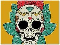 tableau tête de mort mexicaine 3