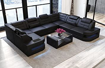 Fantastic Sofa Interior Design Como Leather U Shaped Black Leather Download Free Architecture Designs Scobabritishbridgeorg