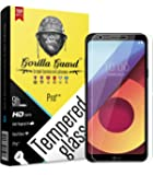 Gorilla guard's HD+ Clear Tempered Glass Screen Protector for LG Q6 5.5inch (PRO++ Series) 10H Hardness, oleophobic, UV Protect, 2.5D Rounded Edges, neo Coated, Free Installation kit.