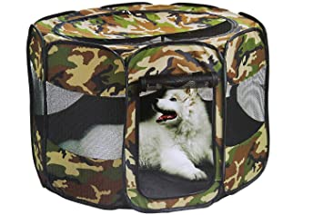 Astonishing Etna Portable Foldable Pet Playpen Pop Up Traveling Kennel Carrying Design Great For Keeping Small Medium Pets Safe Secure Comfortable Indoors Gmtry Best Dining Table And Chair Ideas Images Gmtryco