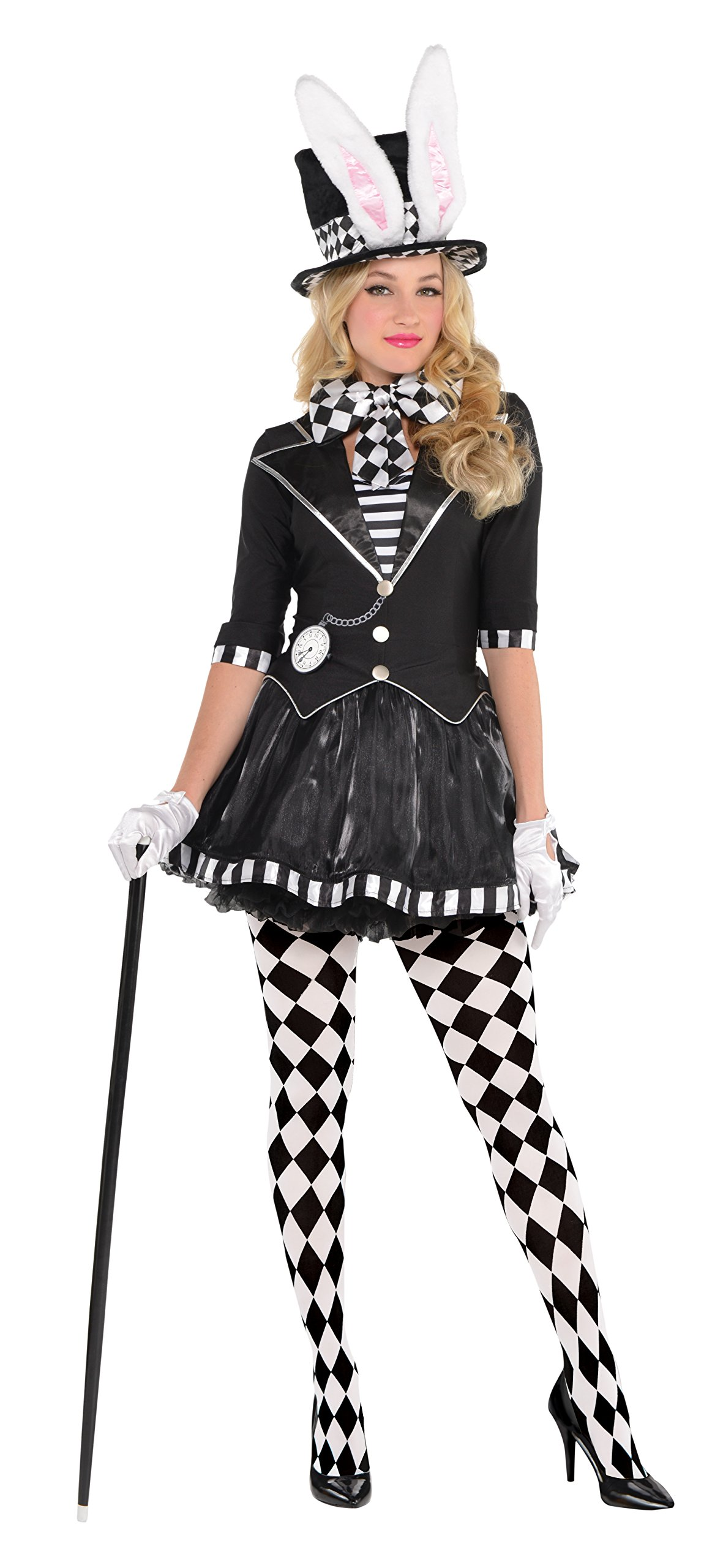 AMSCAN Dark Mad Hatter Halloween Costume for Women, Medium, with Included Accessories by amscan