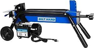 BILT HARD 6 Ton Electric Log Splitter, Power Wood Splitter with Hydraulic Ram, Two-Hand Controls