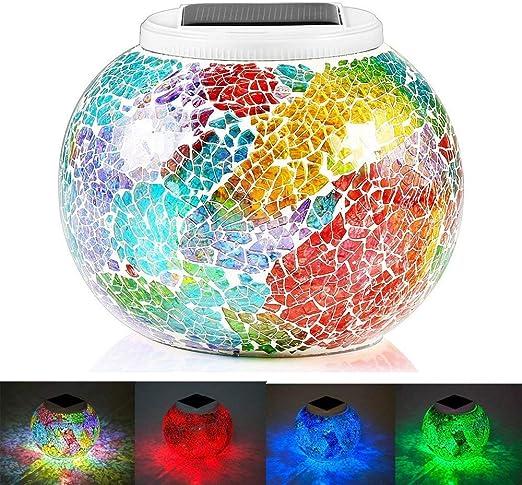 KEEDA lámpara solar LED, decorativa mosaico, atmósfera iluminación ...