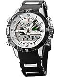 SHARK Montre LED Homme Quartz Sportive Bracelet Acier Inoxydable Etanche Neuf SH041