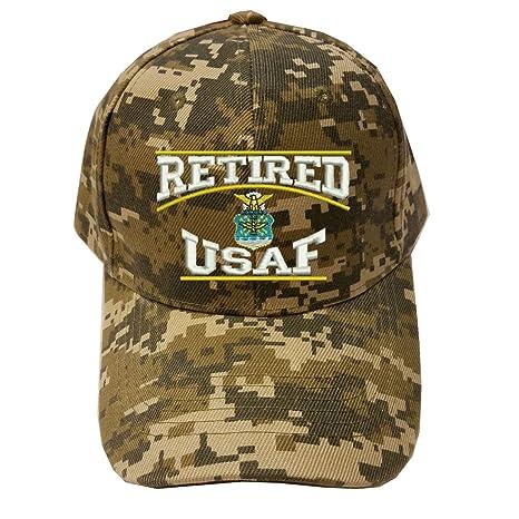 ee5bc4b82fc Military Retired USAF U.S.Air force Retired Digital Camo Baseball Cap Hat