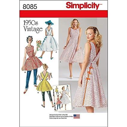 9060b732b2a0 Simplicity - Cartamodello per Abito a Portafoglio da Donna in Stile Vintage  Anni  50