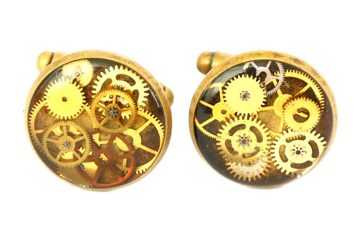 Cog wheel cufflinks, Steampunk Cufflinks, cuff links, brass cufflinks, watchpart cufflinks, gifts for him, mens gifts,