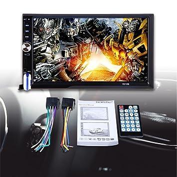 SODIAL 7012B 7 Pulgadas Bluetooth V2.0 Reproductor MP5 de pantalla tactil estereo del audio del coche Soporte MMC: Amazon.es: Coche y moto