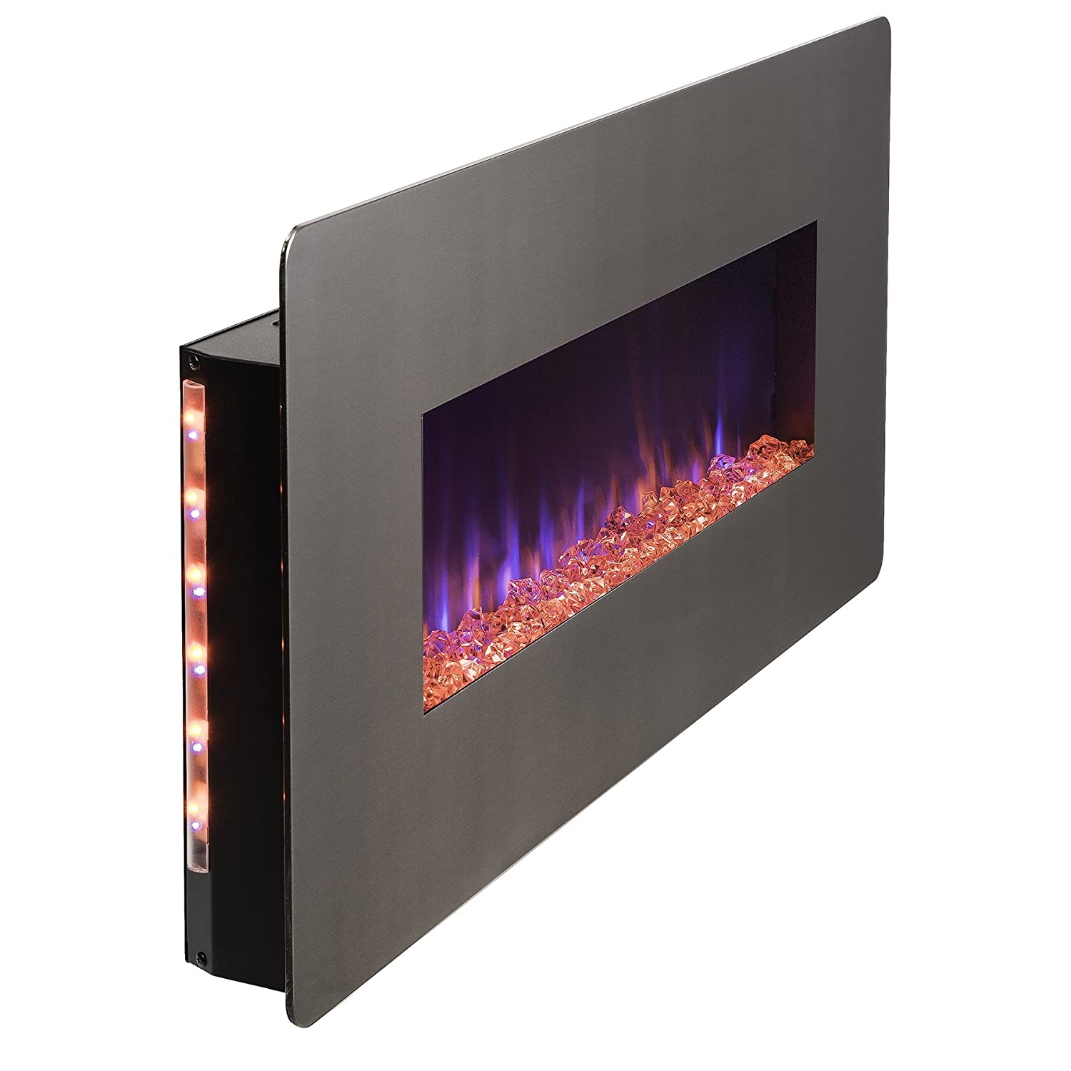 amazon com 36 inch electric wall mount fireplace heater w remote