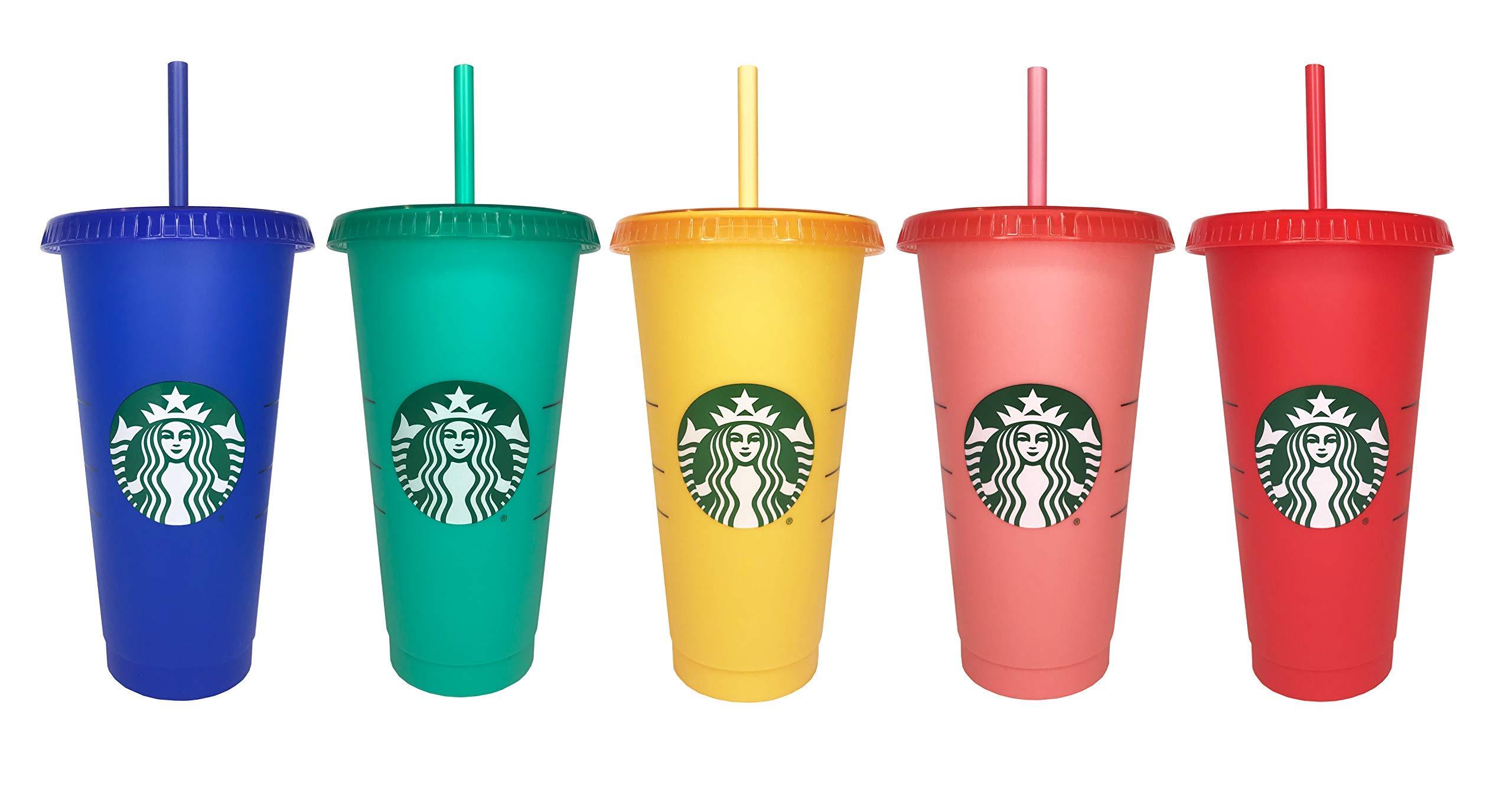 Starbucks 2020 Color Changing Reusable Cold Cups Summer LGBT Pride 24 oz, Set of 5