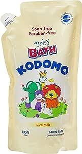 Kodomo Baby Bath Refill, Rice Milk, 650ml