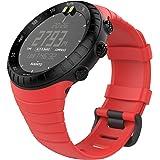 """MoKo Suunto CORE Watch Cinturino, Braccialetto di Ricambio in TPU Morbido con Gancio Metallico per Suunto CORE Smart Watch, per Polso 5.51""""-9.06"""" (140mm-230mm), Rosso"""