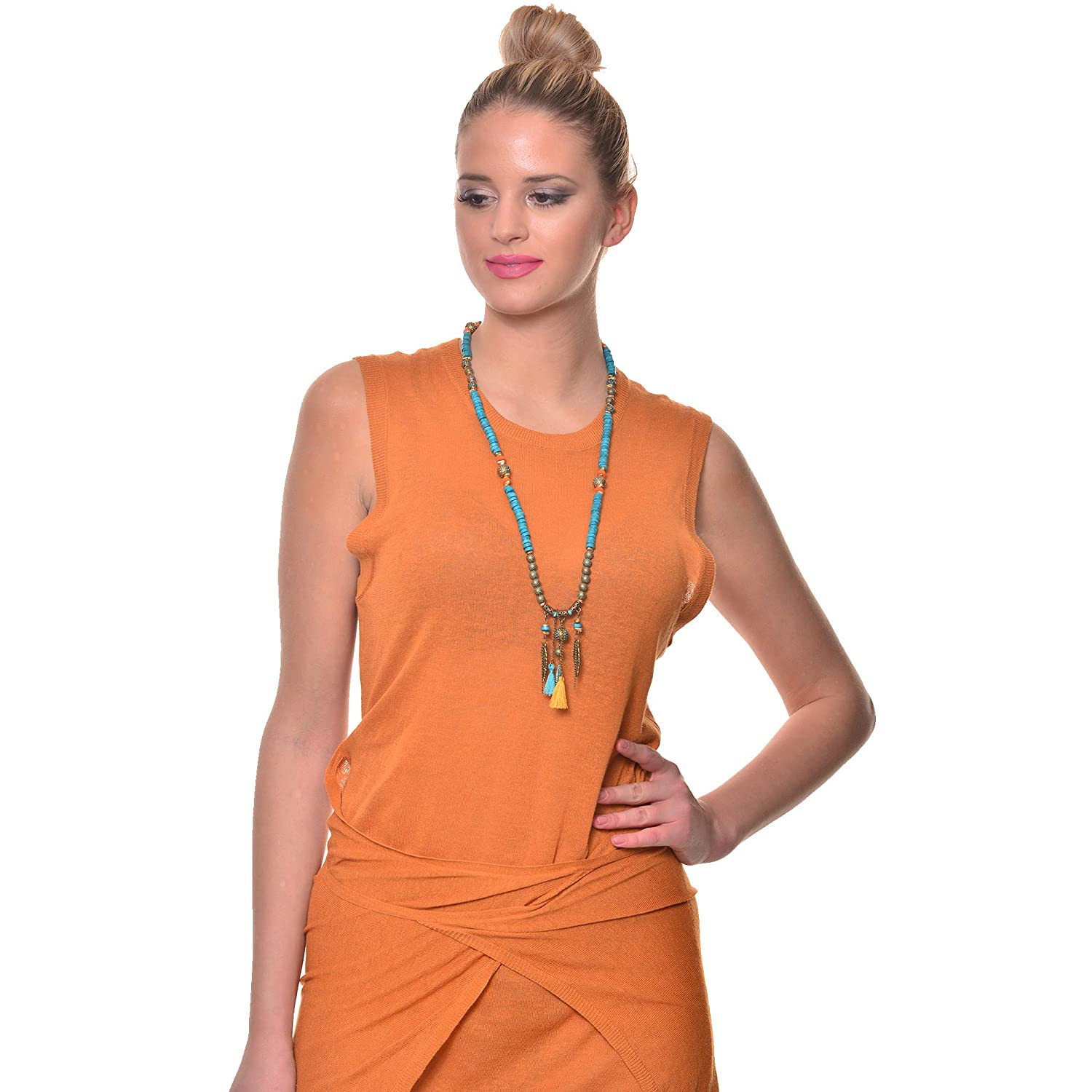 VQ Concept Ethnic Mala İndian Necklace for Women Girls Handmade Gift