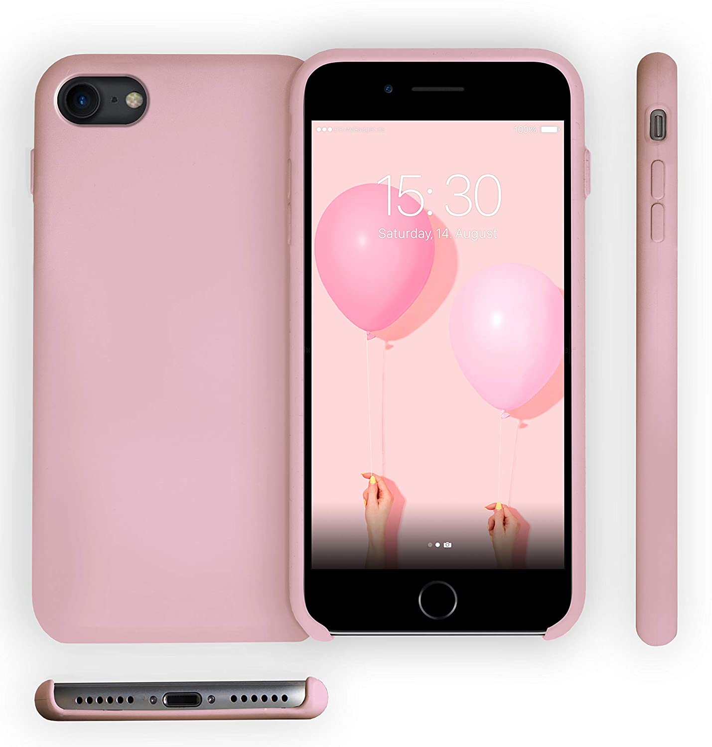 MyGadget Funda para Apple iPhone 7/8 [Soft Touch Case] Antigolpes ...