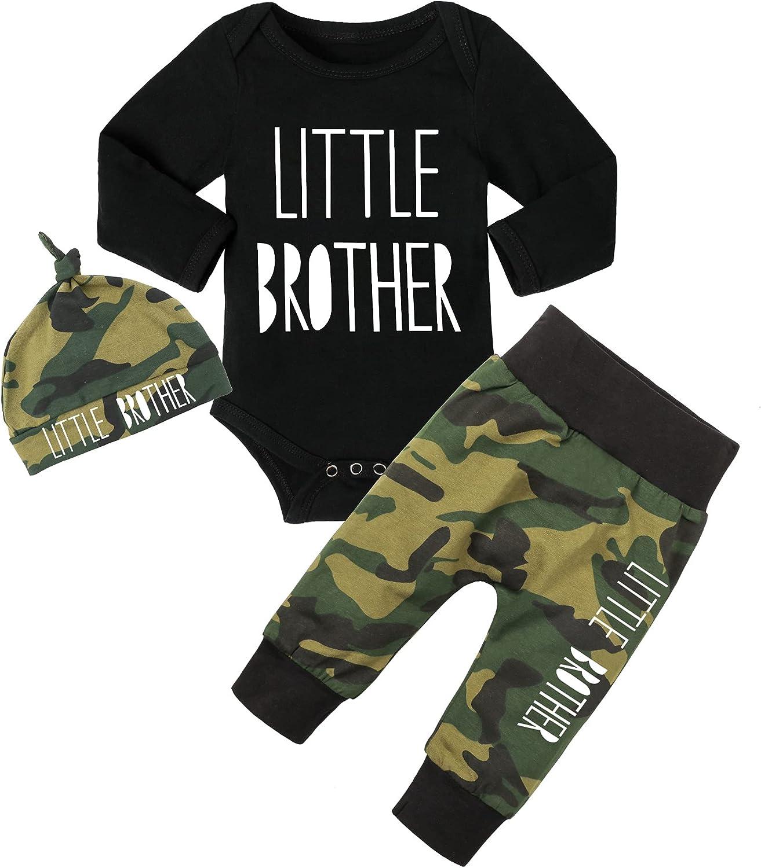 Baby Boy Clothes Newborn Infant Ontfit Long Sleeve Romper + Pants + Hat 3PCS Outfit Set
