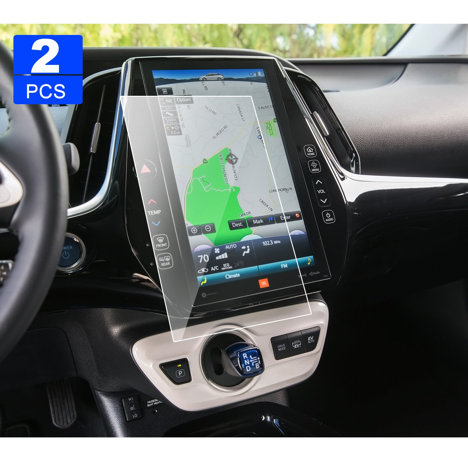 Toyota Prius Prime Entune 11.6 Inch 2013-2018 2 PCS PET Screen Protector, LFOTPP Display Touch Screen Radios Screen Protector Invisible Ultra HD Clear Film Anti Scratch Skin Guard Smooth Self-adhesive