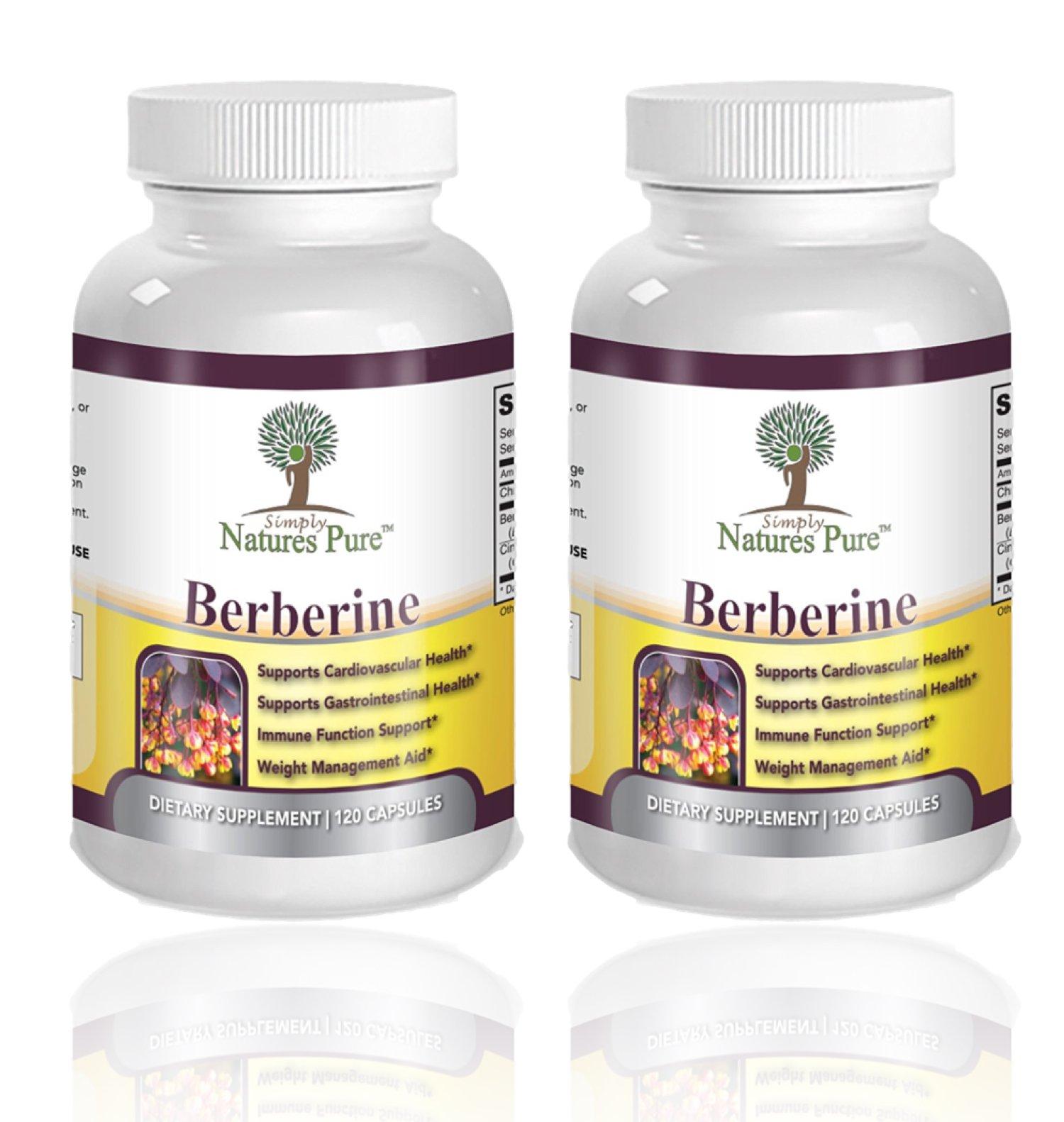 Premium Berberine HCl 500mg - 240 Capsules - Cardiovascular gastrointestinal Immune Weight Loss Support- Chromium Cinnamon