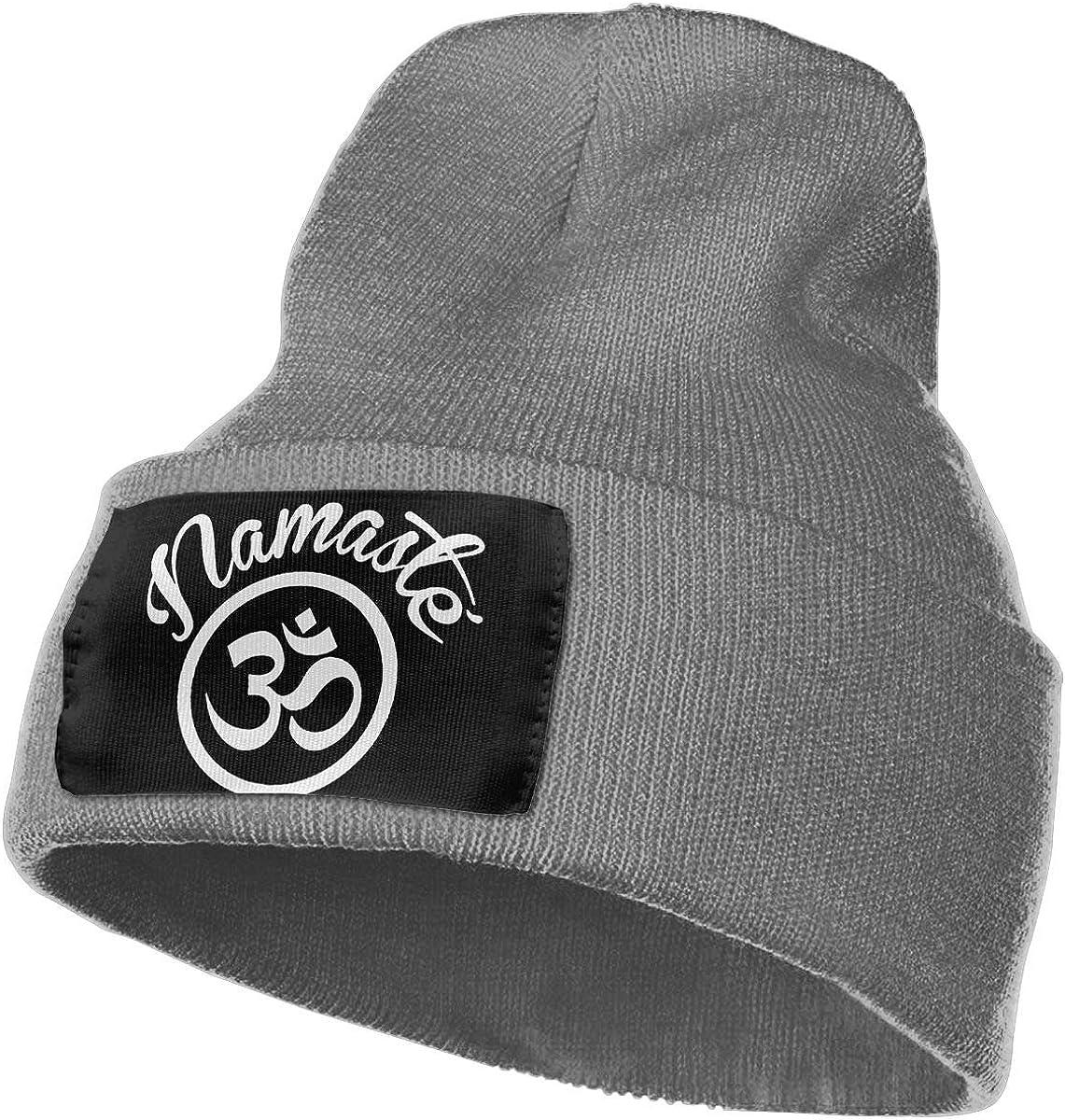 SLADDD1 Namaste with Om Symbol Warm Winter Hat Knit Beanie Skull Cap Cuff Beanie Hat Winter Hats for Men /& Women