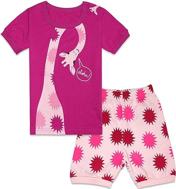 Amazon.com: WWEXU - Pijama de manga corta para niña (100 ...