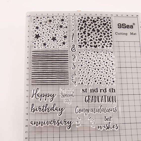 carta artigianato Buono compleanno cuore silicone trasparente timbro fai da te Scrapbooking goffratura album foto carta decorativa regalo fatto a mano.