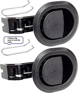 2x Recliner Replacement Parts @ Small Oval Black Plastic Pull Recliner Handle Flapper Style  sc 1 st  Amazon.com & Amazon.com: Choice Parts - Black Recliner Cable with Release ... islam-shia.org