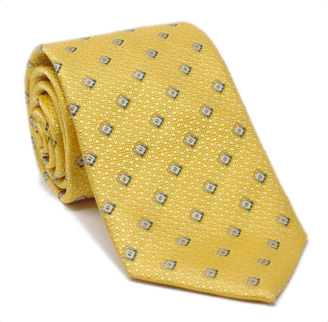David Donahue Men's Geometric Gold Neck Tie (ONE SIZE, GOLD)