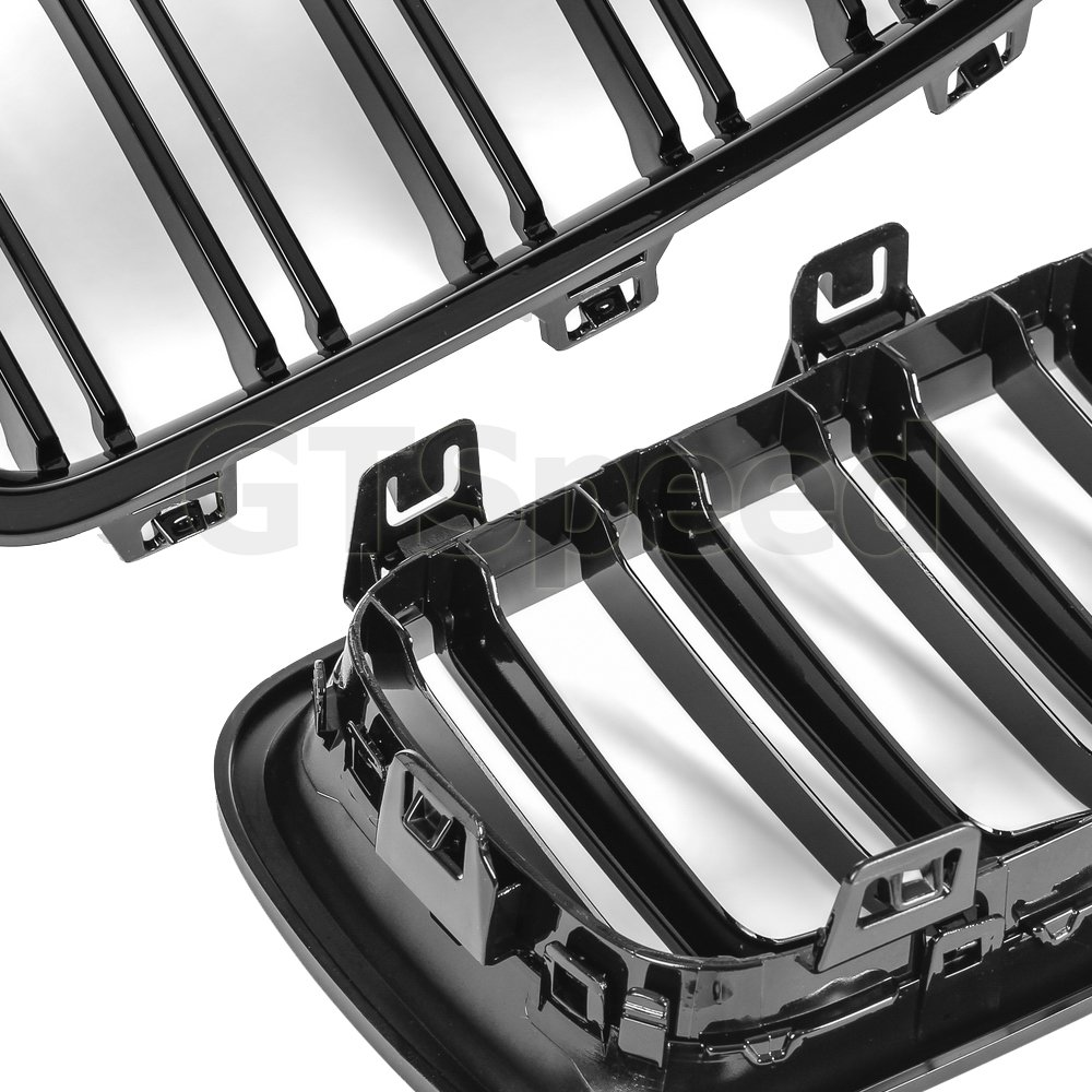 Will NOT Fit M3 GT-Speed Made for 12-17 BMW F30 F31 3-Series 320i 328i 330i 335i 340i Sedan 4dr Dual Slats Gloss Piano Black Front Kidney Grille Grill