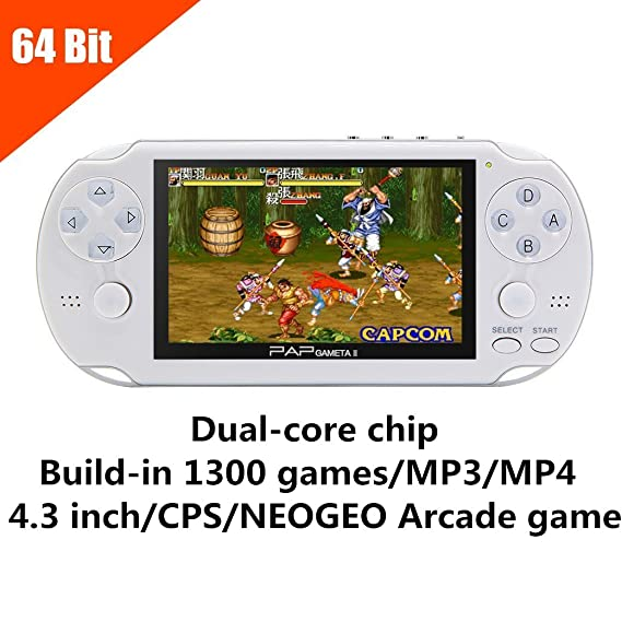 8gb handheld game console 4. 3 inch video game console built-in.