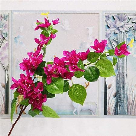 YYCVVH Flores Decoracion Buganvillas Flores Falsas para Novia, hogar, Mesa, Cocina, Oficina, jardín, Boda, decoraciónpara 5 Palos-Púrpura: Amazon.es: Hogar