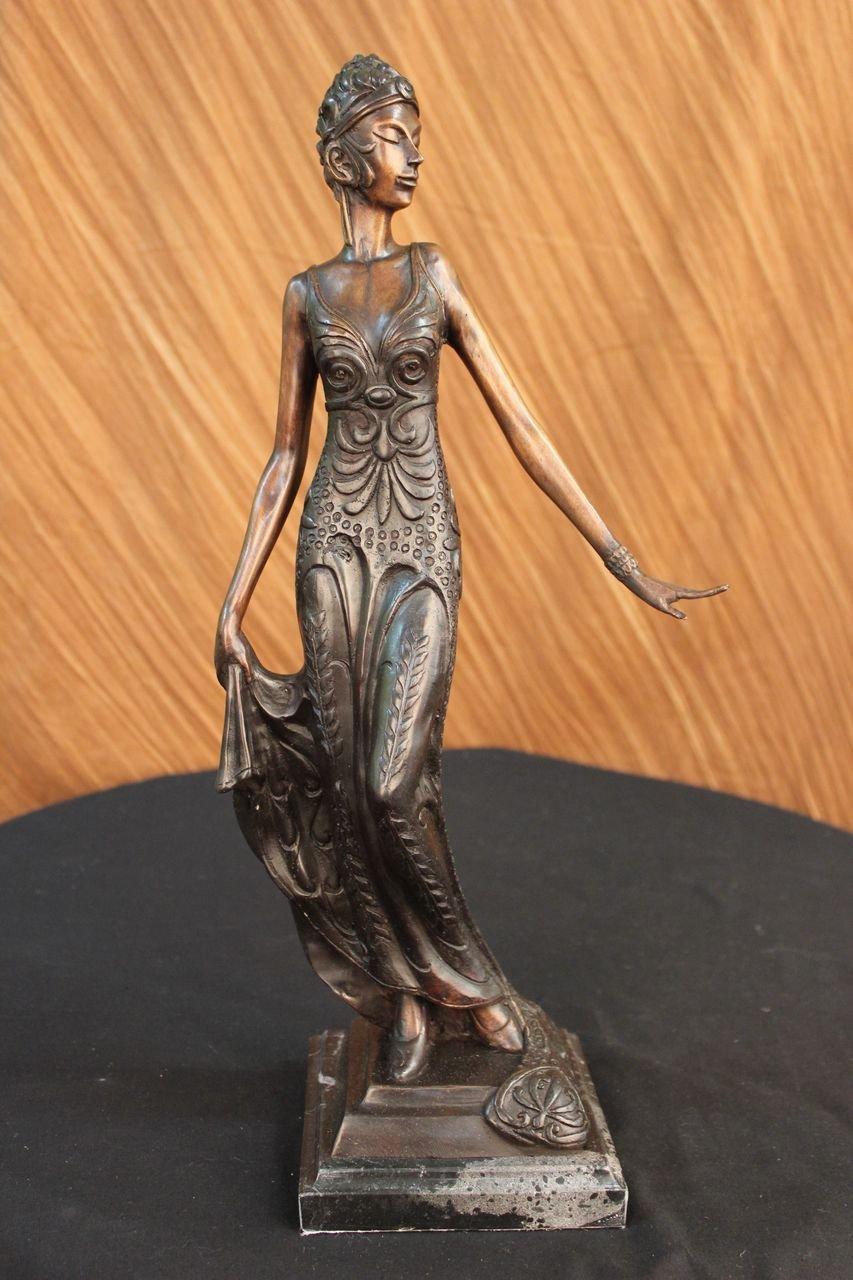 ハンドメイドヨーロピアンブロンズ彫刻ゴージャスな花Woman Blossom Art Nouveau Deco図ブロンズ像- 3 X -57968 m-decor Collectibleギフト   B01M24FNKE