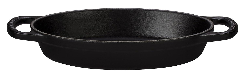 Le Creuset Enamel Cast Iron Signature Oval Baker, 3 quart, Black