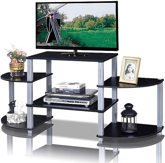 Custpromo - Mueble esquinero para televisor (3 Cubos de pie), Color Negro y marrón: Amazon.es: Juguetes y juegos