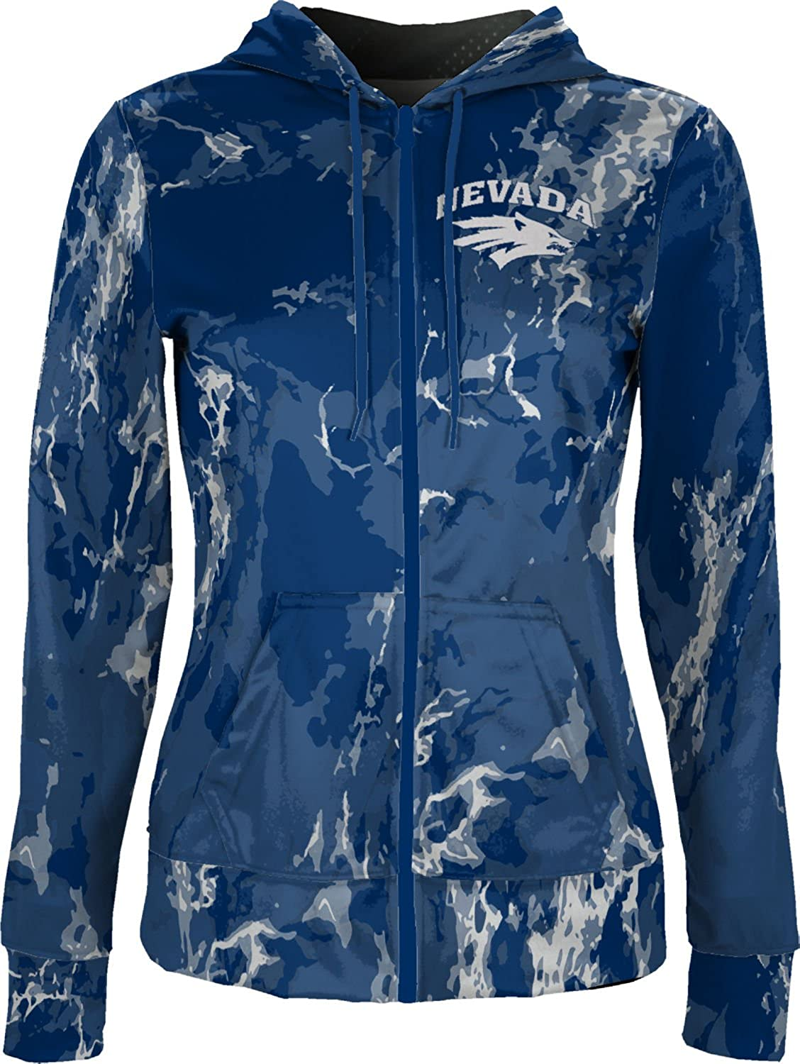 School Spirit Sweatshirt Marble ProSphere University of Nevada Girls Zipper Hoodie