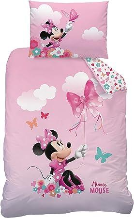 Copripiumino Singolo In Flanella.Disney Minnie Mouse Set Copripiumino Singolo 100x135 40x60 Cm