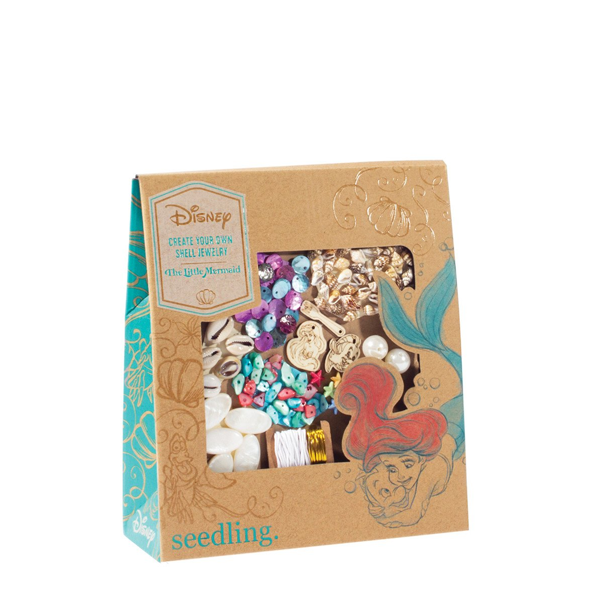 Seedling Disney's The Little Mermaid Create Your Own Shell Jewelry Activity Kit