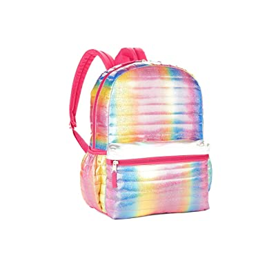 """Girls Youth Girls Rainbow Shimmer Pink Quilted 16"""" Backpack   Kids' Backpacks"""