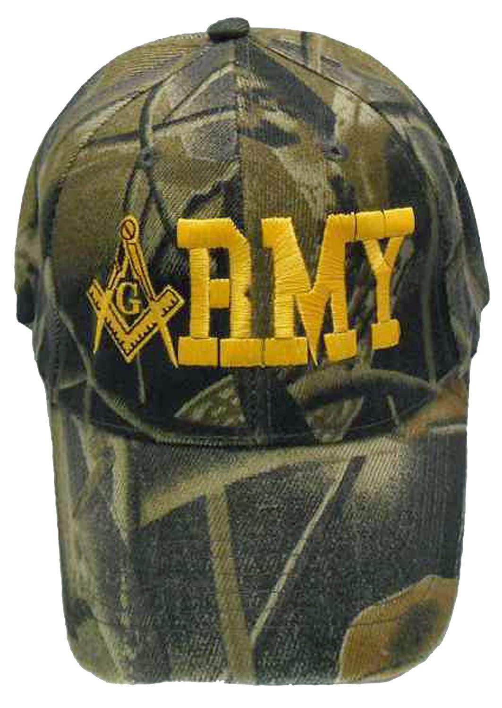 3bbc9be72d Amazon.com: Buy Caps and Hats Masonic Baseball Cap ARMY Mason Hat Mens One  Size (Black): Clothing