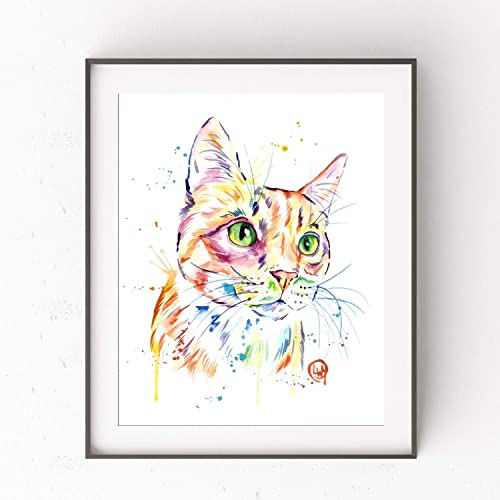 Amazon Tabby Cat Painting By Lisa Whitehouse