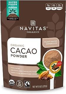 product image for Navitas Organics Cacao Powder, 8oz. Bag, 15 Servings — Organic, Non-GMO, Fair Trade, Gluten-Free