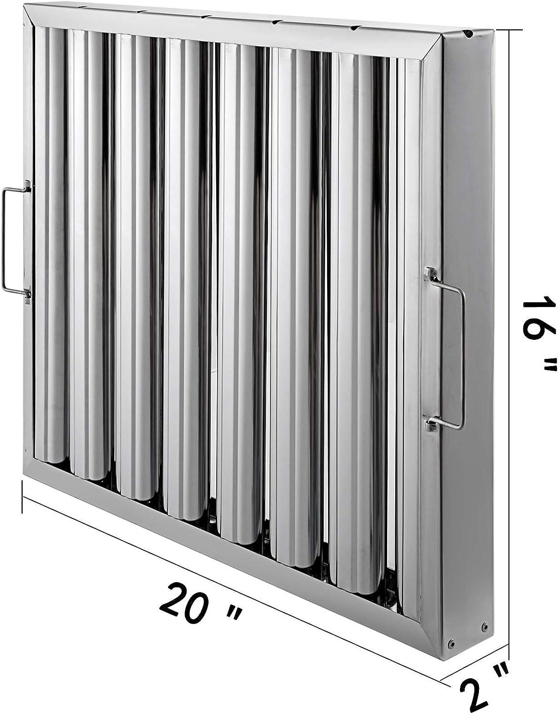 Anhon Metal Filtro de Grasa 510x330x440mm Filtros de Grasa para Campana Extractora del Acero Inoxidable Mas Seguro: Amazon.es: Hogar